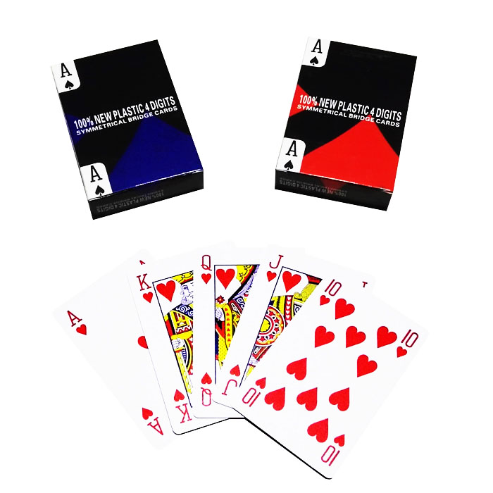 STC006 Symmetrical Bridge Cards with 4 Digits 100% new plastic