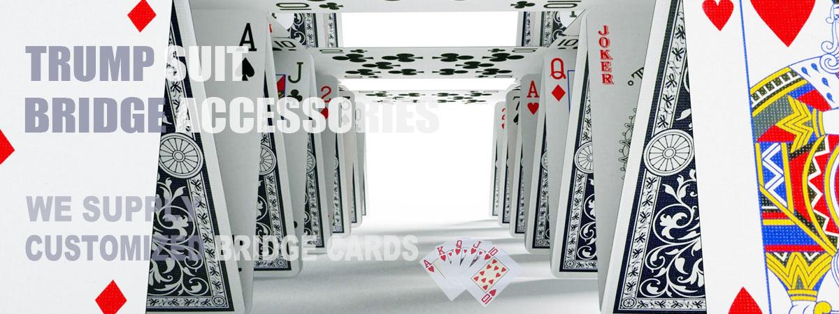 Trump Suit Bridge supply bidding box cards,4 digits plastic cards