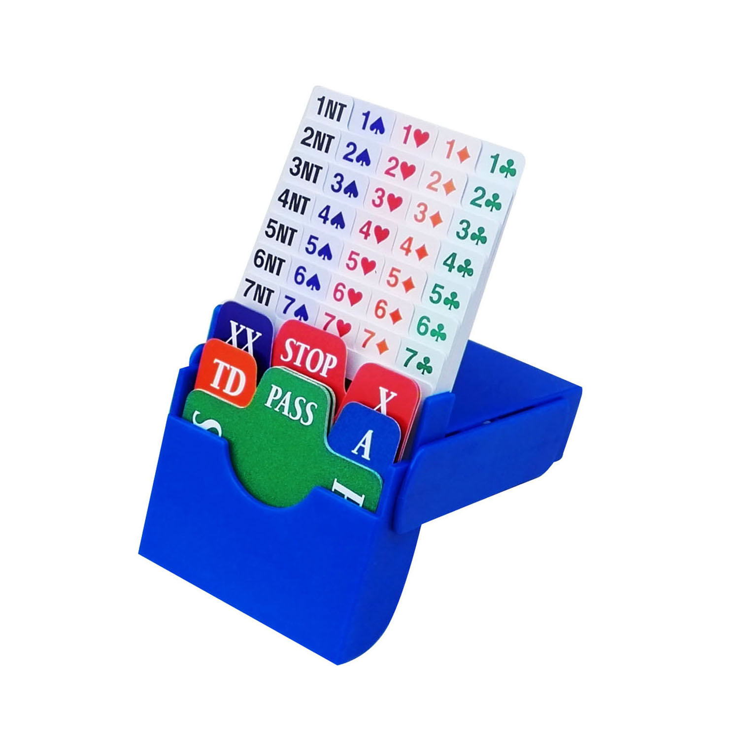 STBG003 Bidding Box(set of 4,Blue,incl 100% plastic bidding cards),free shipping