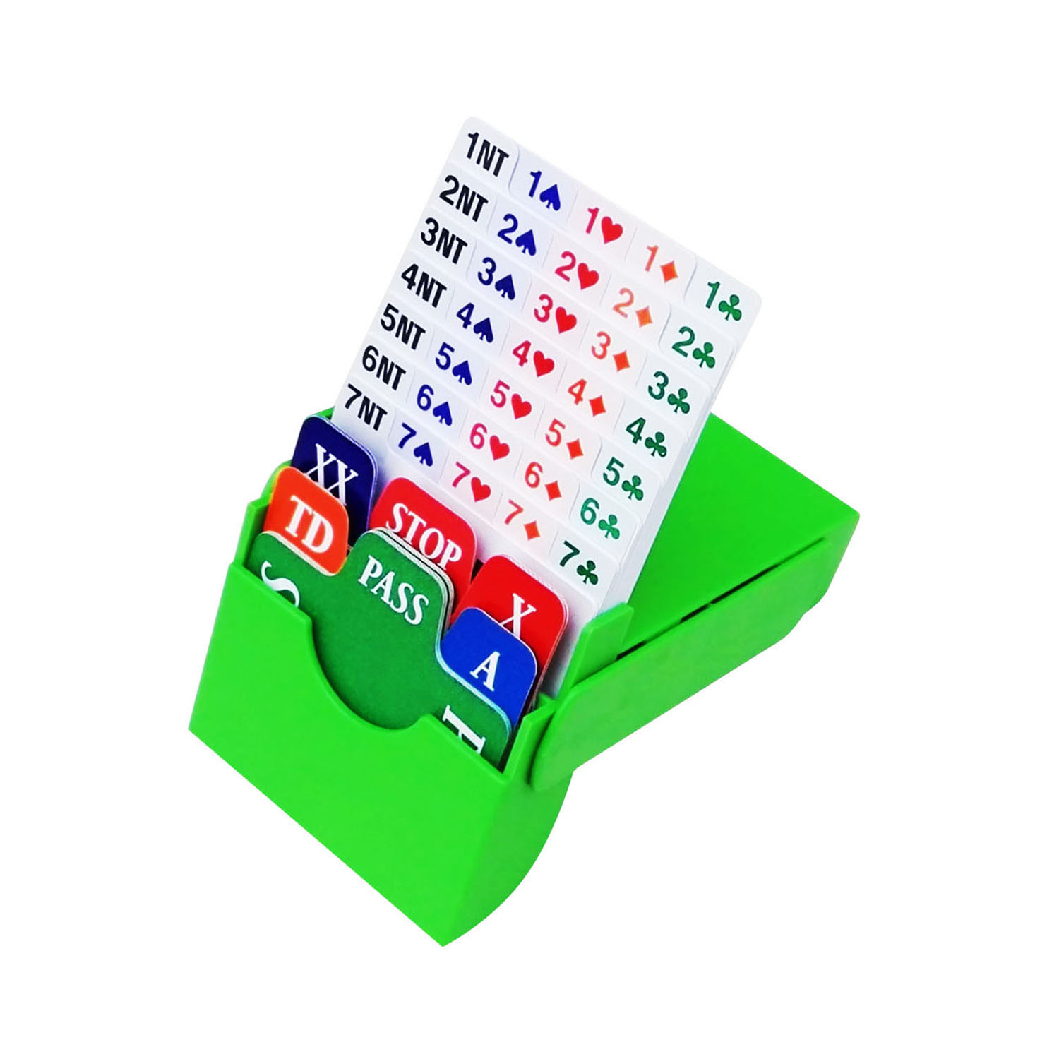 STBG010 Bidding Box(set of 4,Green,incl 100% plastic bidding cards),free shipping