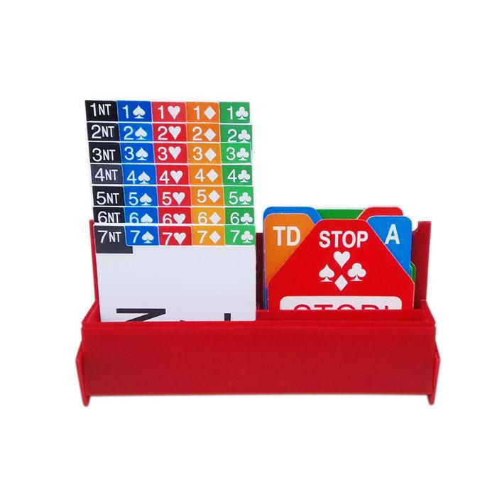 STBG011S Horizontal Bidding Box(set of 4, incl cardboard cards)