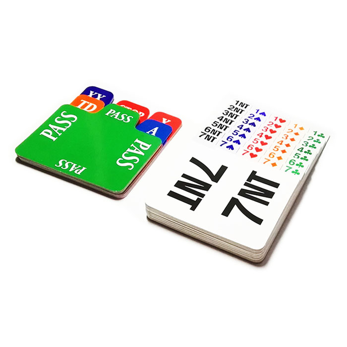STBG002 Plastic Laminated Cardboard Bidding Cards(set of 4),Refill Cards,Insert Cards