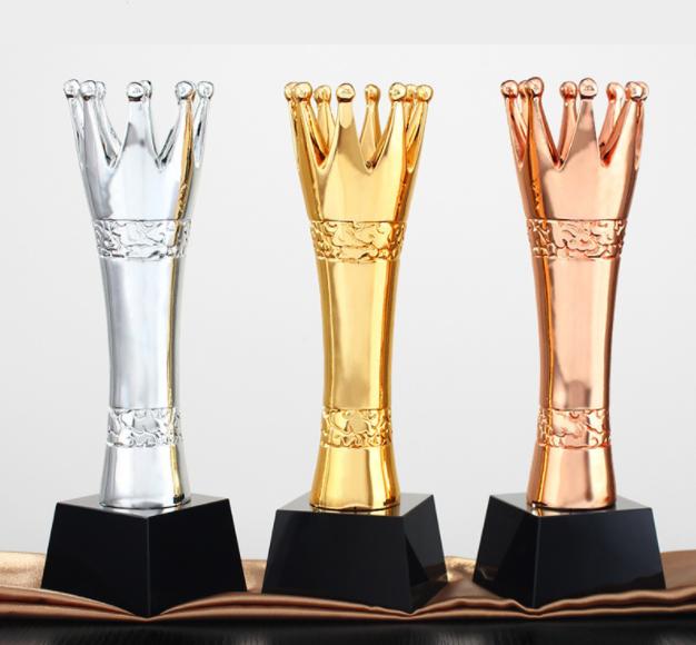 SCT009-30 K9 Crystal and High Density Resin Trophy 30cm High