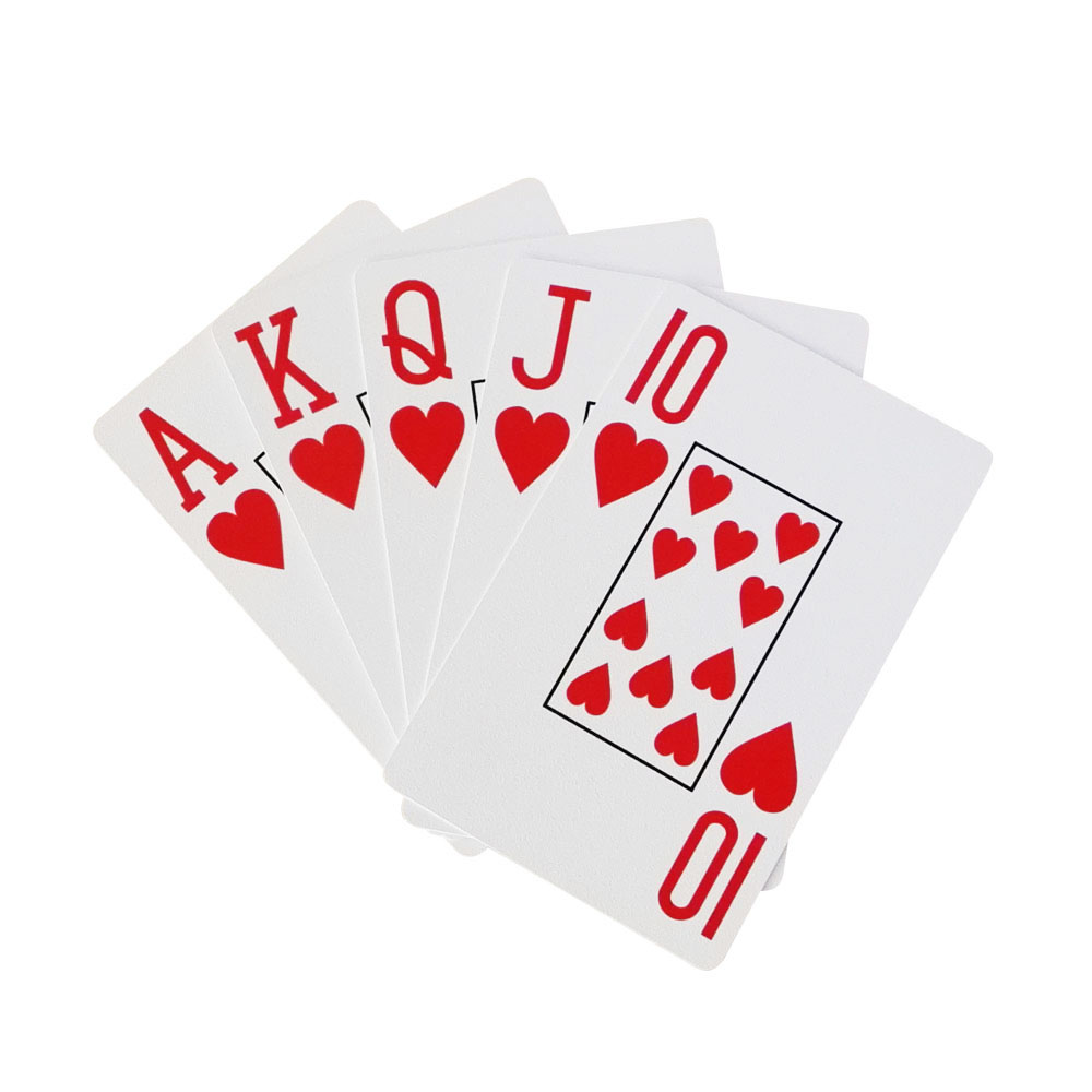 STC001 100% Plastic Cards(Poker Size) with Jumbo Index