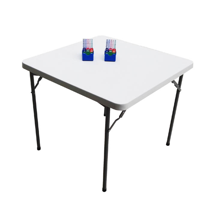 STT003 Bridge Table 37.8x37.8x30.0 inch made of HDPE with Hard Desktop